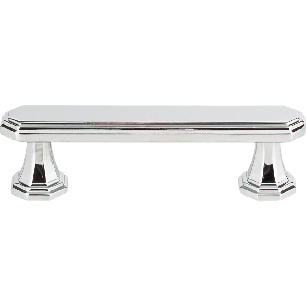 Atlas Dickinson Pull 3 Inch (c-c) Polished Chrome