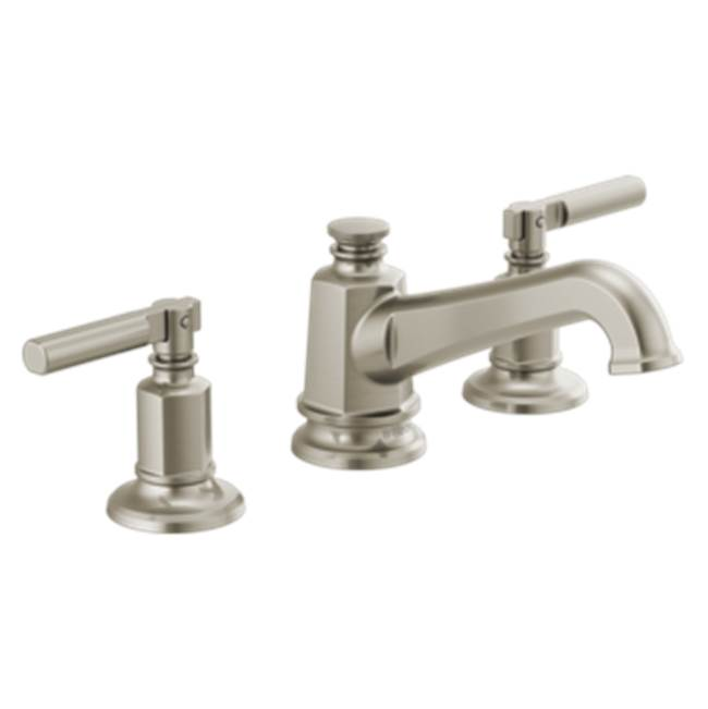 Brizo Invari: Widespread Lavatory Faucet With Angled Spout - Less Handles