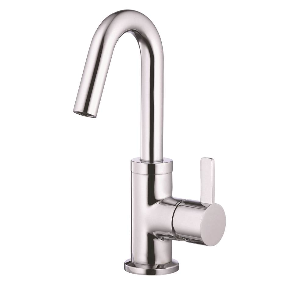 Gerber Plumbing Amalfi 1H Lavatory Faucet Single Hole Mount w/ 50/50 Touch Down Drain and Optional Deck Plate Included 1.2gpm Chrome