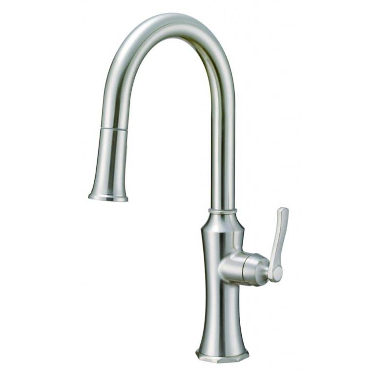 Gerber Plumbing Draper 1H Kitchen Pull Down Kitchen Faucet w/ SnapBack and Dockforce 1.75 gpm Stainless Steel