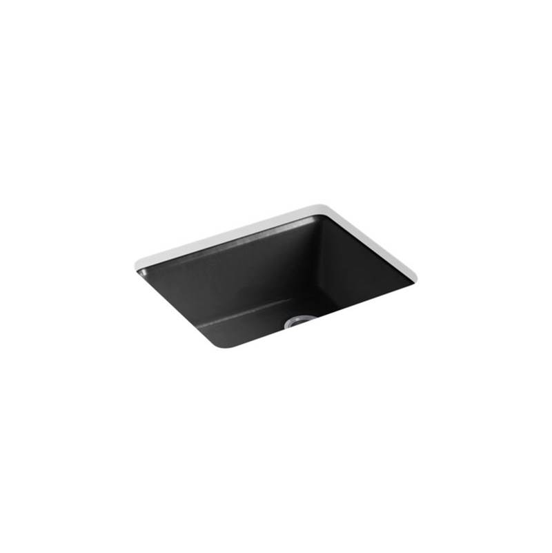 Kohler Riverby® 25'' x 22'' x 9-5/8'' undermount single-bowl kitchen sink with rack