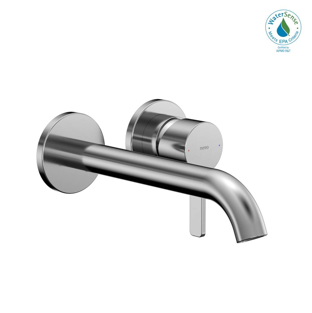 Toto GF 1.2 GPM Wall-Mount Single-Handle Long Bathroom Faucet with COMFORT GLIDE Technology, Polished Chrome